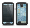 The Blue Patched Paisley Pattern Samsung Galaxy S4 LifeProof Fre Case Skin Set