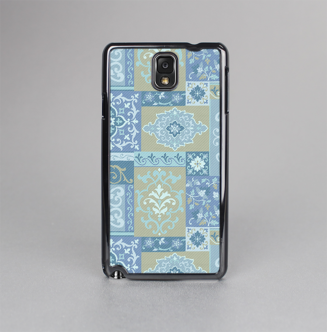 The Blue Patched Paisley Pattern Skin-Sert Case for the Samsung Galaxy Note 3