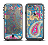 The Blue & Pink Layered Paisley Pattern V3 Apple iPhone 6/6s LifeProof Fre Case Skin Set
