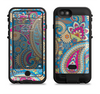 The Blue & Pink Layered Paisley Pattern V3 Apple iPhone 6/6s LifeProof Fre POWER Case Skin Set