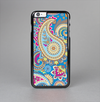 The Blue & Pink Layered Paisley Pattern V3 Skin-Sert Case for the Apple iPhone 6 Plus