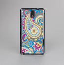 The Blue & Pink Layered Paisley Pattern V3 Skin-Sert Case for the Samsung Galaxy Note 3