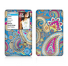 The Blue & Pink Layered Paisley Pattern V3 Skin For The Apple iPod Classic