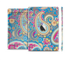 The Blue & Pink Layered Paisley Pattern V3 Skin Set for the Apple iPad Mini 4