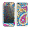 The Blue & Pink Layered Paisley Pattern V3 Skin for the Apple iPhone 5c