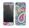 The Blue & Pink Layered Paisley Pattern V3 Skin for the Apple iPhone 5s