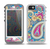 The Blue & Pink Layered Paisley Pattern V3 Skin for the iPhone 5-5s OtterBox Preserver WaterProof Case