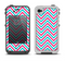 The Blue & Pink Sharp Chevron Pattern Apple iPhone 4-4s LifeProof Fre Case Skin Set