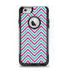 The Blue & Pink Sharp Chevron Pattern Apple iPhone 6 Otterbox Commuter Case Skin Set