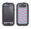 The Blue & Pink Sharp Chevron Pattern Samsung Galaxy S3 LifeProof Fre Case Skin Set