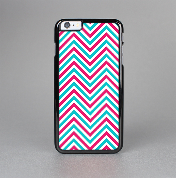 The Blue & Pink Sharp Chevron Pattern Skin-Sert Case for the Apple iPhone 6 Plus