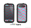 The Blue & Pink Sharp Chevron Pattern Skin For The Samsung Galaxy S3 LifeProof Case