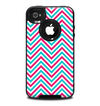 The Blue & Pink Sharp Chevron Pattern Skin for the iPhone 4-4s OtterBox Commuter Case