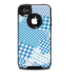 The Blue Plaid Patches Skin for the iPhone 4-4s OtterBox Commuter Case