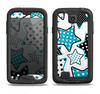 The Blue Polkadotted Vector Stars Samsung Galaxy S4 LifeProof Fre Case Skin Set