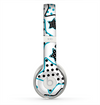 The Blue Polkadotted Vector Stars Skin for the Beats by Dre Solo 2 Headphones