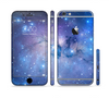 The Blue & Purple Mixed Universe Sectioned Skin Series for the Apple iPhone 6 Plus