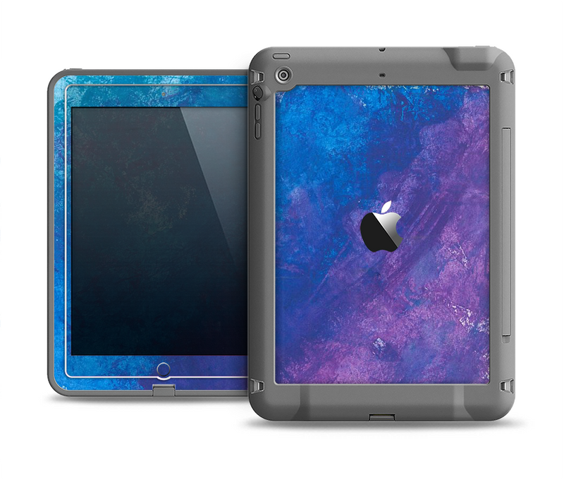 The Blue & Purple Pastel Apple iPad Air LifeProof Fre Case Skin Set