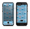 the blue red nautical sailboat pattern  iPhone 6/6s Plus LifeProof Fre POWER Case Skin Kit