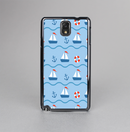 The Blue & Red Nautical Sailboat Pattern Skin-Sert Case for the Samsung Galaxy Note 3