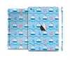 The Blue & Red Nautical Sailboat Pattern Skin Set for the Apple iPad Mini 4