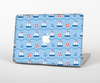 The Blue & Red Nautical Sailboat Pattern Skin for the Apple MacBook Pro 15""