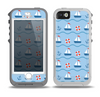 The Blue & Red Nautical Sailboat Pattern Skin for the iPhone 5-5s OtterBox Preserver WaterProof Case