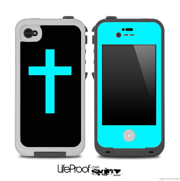 The Blue Simple Vector Cross Skin for the iPhone 4,4s or 5 ...