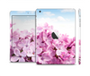 The Blue Sky Pink Flower Field Skin Set for the Apple iPad Mini 4