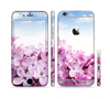 The Blue Sky Pink Flower Field Sectioned Skin Series for the Apple iPhone 6 Plus