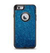 The Blue Sparkly Glitter Ultra Metallic Apple iPhone 6 Otterbox Defender Case Skin Set