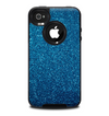 The Blue Sparkly Glitter Ultra Metallic Skin for the iPhone 4-4s OtterBox Commuter Case