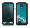 The Blue Spiked Orb Pattern V3 Samsung Galaxy S4 LifeProof Fre Case Skin Set