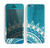The Blue Spiked Orb Pattern V3 Skin for the Apple iPhone 5c