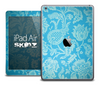 The Blue Subtle Floral Textile Skin for the iPad Air