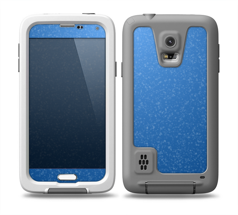 The Blue Subtle Speckles Skin for the Samsung Galaxy S5 frē LifeProof Case