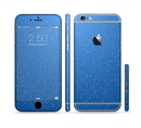 The Blue Subtle Speckles Sectioned Skin Series for the Apple iPhone 6s