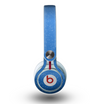 The Blue Subtle Speckles Skin for the Beats by Dre Mixr Headphones