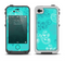The Blue Swirled Abstract Design Apple iPhone 4-4s LifeProof Fre Case Skin Set