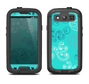 The Blue Swirled Abstract Design Samsung Galaxy S4 LifeProof Fre Case Skin Set