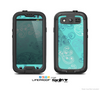 The Blue Swirled Abstract Design Skin For The Samsung Galaxy S3 LifeProof Case