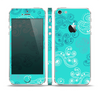 The Blue Swirled Abstract Design Skin Set for the Apple iPhone 5