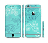 The Blue Swirled Abstract Design Sectioned Skin Series for the Apple iPhone 6