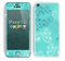 The Blue Swirled Abstract Design Skin for the Apple iPhone 5c