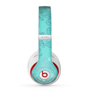 The Blue Swirled Abstract Design Skin for the Beats by Dre Studio (2013+ Version) Headphones