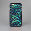 The Blue & Teal Lace Texture Skin-Sert Case for the Apple iPhone 6 Plus