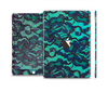 The Blue & Teal Lace Texture Skin Set for the Apple iPad Pro