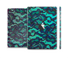 The Blue & Teal Lace Texture Skin Set for the Apple iPad Mini 4