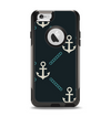 The Blue & Teal Vintage Solid Color Anchor Linked Apple iPhone 6 Otterbox Commuter Case Skin Set