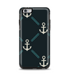 The Blue & Teal Vintage Solid Color Anchor Linked Apple iPhone 6 Plus Otterbox Symmetry Case Skin Set